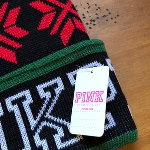 PINK Victoria's Secret Accessories - Victoria's Secret Pink knitted hat with Pom Pom